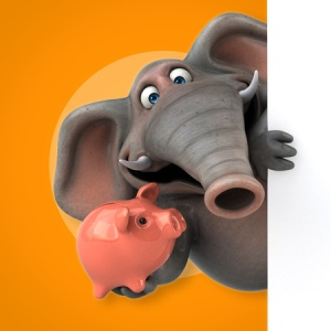 63442674 - fun elephant - 3d illustration