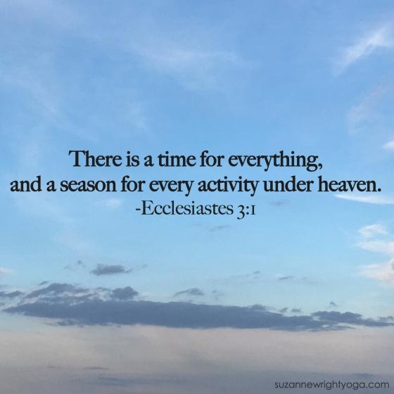 Seasons Ecclesiastes