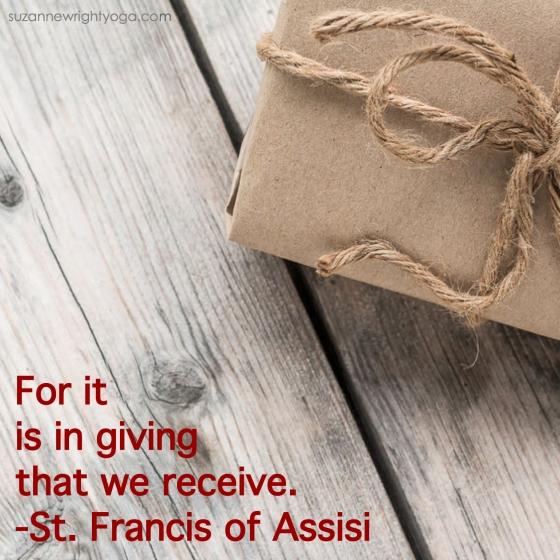 Giving Francis