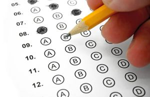 42066721 - filling out answers on a multiple choice test