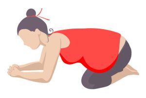 59702698 - set of 9 yoga poses for pregnant women. prenatal exercise.