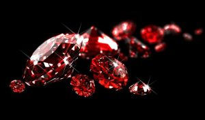 6228522 - rubies on black surface