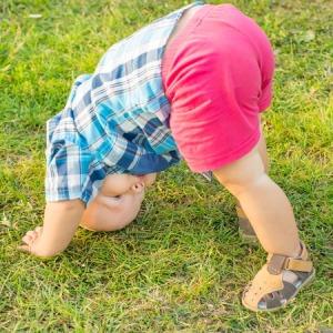 34284902 - baby doing yoga exercises