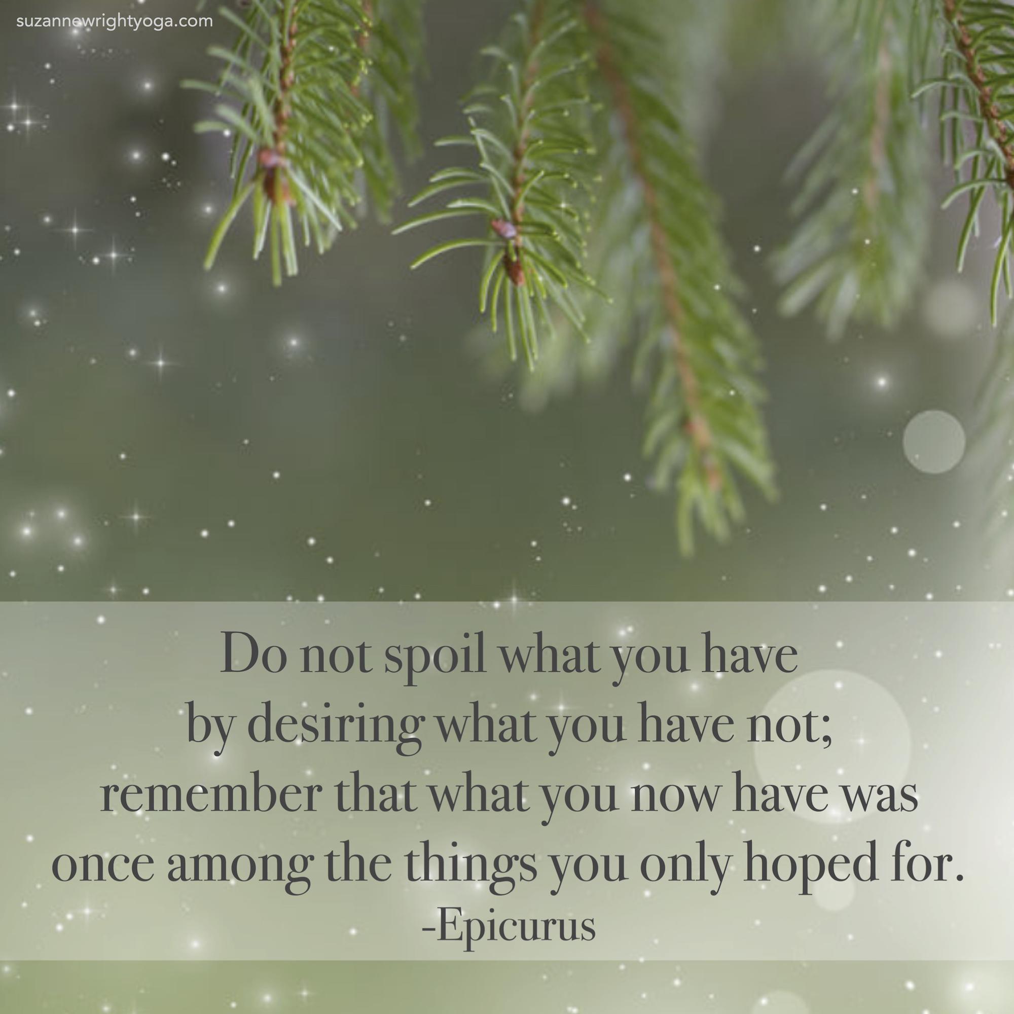 Do Not Spoil Epicurus 12-2-20
